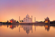STUNNING CANVAS TAJ MAHAL SUNSET #234 WALL HANGING PICTURE ART A1