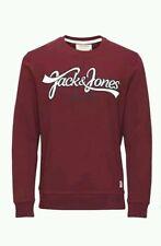 Mens Jack & Jones Sweatshirt Jumper Burgundy maroon Size XL BNWT