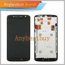 Black For Motorola Droid Maxx 2 XT1565 LCD Touch Screen Digitizer Replace +Frame