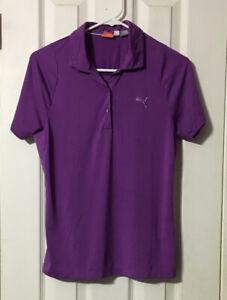 Puma S Purple Activewear Shirt Polo Style Flaw