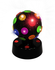 Disco DJ Stage Light Club Party Crystal Ball Rotating LED Lighting Battery
