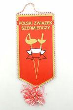 #e6364 Original Old pennant from Poland Polski zwiazek szermierczy