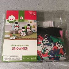 Decorate Your Own Snowmen Kit Christmas Makes 20 No Glue Needed New Foam