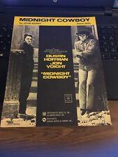 Vintage Sheet Music; Midnight Cowboy , Piano Solo, John barry 1969