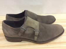 Kenneth Cole REACTION Men's Design 20644 Monk-Strap Loafer, Taupe, 7.5  M