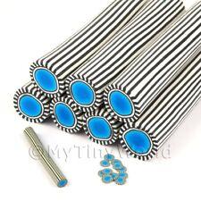 COTTO BLU Poker Chip cane nail art e gioielli Unc35