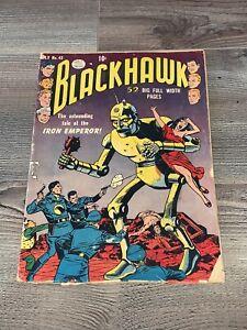 Blackhawk 42 DC 1951 RARE Classic Robot Cover Vintage Golden Age G 2.0