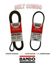 MITSUBISHI GALANT 99-03 ECLIPSE 00-05 V6 3.0L BANDO OEM Belt Set 2Pc ALT/ AC/ PS