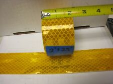 """3M  104r-003189 AMBER YELLOW GOLD Reflective Conspicuity Tape 2"""" x 25 ft lined"""
