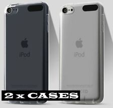 2 x CASES - CLEAR TPU Soft Rubber Transparent Cover FOR iPod Touch 5th & 6th Gen