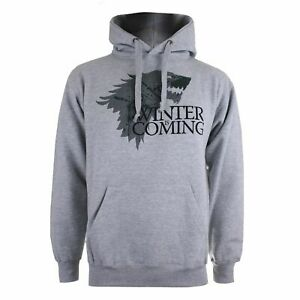 Official HBO Game of Thrones Winter Is Coming Gray Hoodie