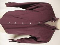 Billy Reid Mens Red Grey Check Long Sleeve Cotton Standard Cut Shirt XL