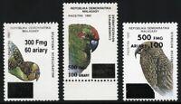 Madagaskar 1998 Vögel Papageien Freimarken 2103 2121 2130 MNH / 721 RAR