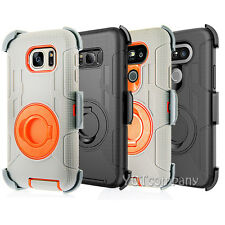 Hybrid Rugged Holster Shockproof Armor Cover Stand Case for Samsung iPhone LG
