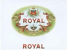 Royal, original inner cigar box label, crown, embossed, para peronas de gusto