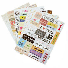 6pcs/lot Retro Postmark Letter Print Sticker for Scrapbooking Diary Planner DIY