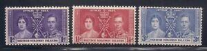 Solomon I.  1937   Sc # 64-66   Coronation   MLH   (5039-)