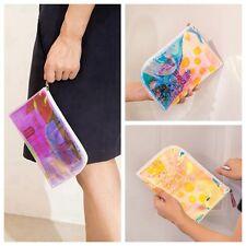 Colorful Clutch Makeup Shiny Laser Bag Holographic Purse Transparent Jelly Bag