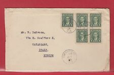 5 x 1 cent Mufti 1st ounce surface rate to ** ITALY ** 1939 Canada cover
