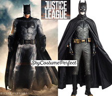 CUSTOM ! FREE WW SHIP 2017 Justice League Batman Bruce Deluxe Cosplay Costume A+