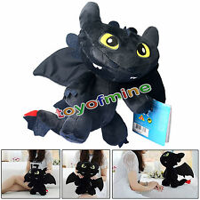 9'' How to Train Your Dragon Toothless Night Fury Stuffed Animal Plush Toy Doll