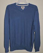 Timberland Men's Williams River V-Neck Lt Blue Cotton Sweater X-Large #6641J NWT