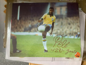 Picture PELE Signed Photograph with AUTOGRAPH