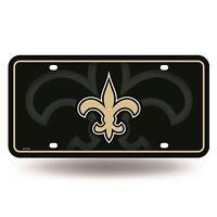 New Orleans Saints Metal License Plate Tag