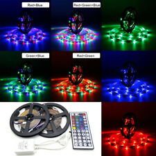 2X5M 3528 SMD RGB 300 LED Lighting Strips 44 Key Remote Controller for TV, Room