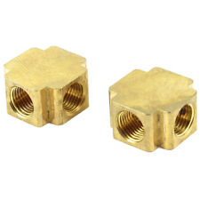 "2 Pcs 1/4"" NPT Thread 4 Ways Cross Connector Pipe Adapter Coupler T2Q8"