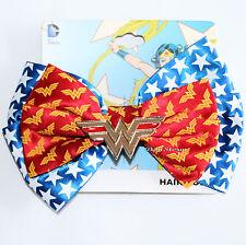 DC Comics Wonder Woman Cosplay Hair Bow Tie Pin Clip Dress-Up Logo Wings Charm