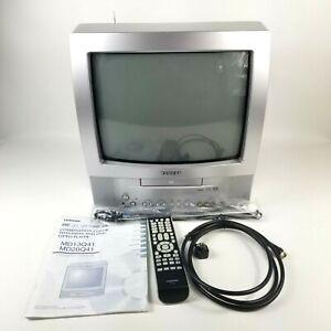 Toshiba MD13Q41 13-Inch Color CRT TV / DVD Combo w/ Remote & Manual Retro Gaming