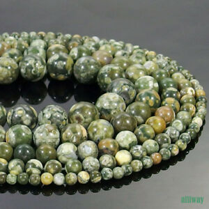 Natural Peacock Jasper Stone Round Beads 15.5'' 2mm 3mm 4mm 6mm 8mm 10mm 12mm