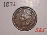 1872 INDIAN HEAD CENT XF NICE ATTRACTIVE ORIGINAL COIN COMBINED SHIPPING