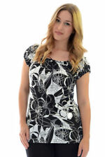 Polyester Cap Sleeve Casual Floral Tops & Blouses for Women