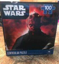 NEW STAR WARS DARTH MAUL 100 PIECE PUZZLE  LENTICULAR  MOTION 3D Effect