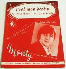 Partition vintage sheet music JACQUES MONTY : C'est mon Destin * 60's Ibach
