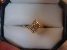 Ladies Vintage 14k Yellow Gold w/Diamond Cluster Ring Size 6
