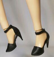 CURVY BARBIE BLACK POINT TOE HIGH HEELS SHOES ~ MATTEL FASHIONISTAS FOOTWEAR
