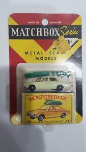Vintage Lesney Matchbox Ford Corsair & Boat No.45