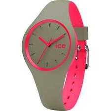 Wristwatch ICE WATCH DUO IC.000360 Silicone Khaki Fuchsia Small 34mm Sub 100mt