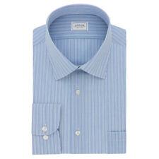 Arrow Mens Dress Shirt Athletic Fit Wrinkle Aquamarine Striped 17 - 17 1/2 34/35