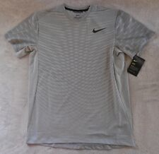 NIKE Men's T-Shirt Short Sleeve Training Top Wolf Grey/Cool Grey/Black Size M