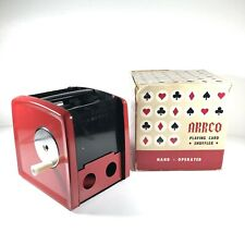 Playing Card Shuffler Arrco 1-2-3 Decks Hand Crank with Box