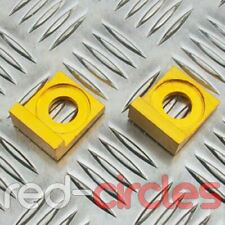 GOLD 15mm BLOCK PIT BIKE CHAIN TENSIONERS fits 140cc 150cc 160cc PITBIKES