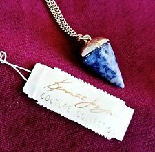 New w tags KENNETH JAY LANE KJL Couture Collection Lapis stone gold pl NECKLACE