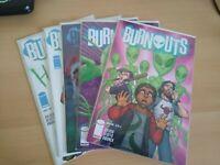 BURNOUTS #1-5 IMAGE COMICS 2018 HILARIOUS COMPLETE SET BRAND NEW NM/MT!!!
