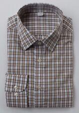 EX m&s Corte Normal 100% Camisa De Algodón Azul, Marrón Cuadros