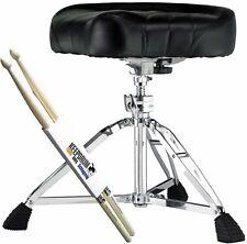 Pearl D-2500 Roadster Drumhocker + 1 Paar KEEPDRUM Drumsticks