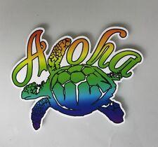 Aloha Sticker - Sea Turtle Hawaii Surf Surfing Beach Tropical Decal